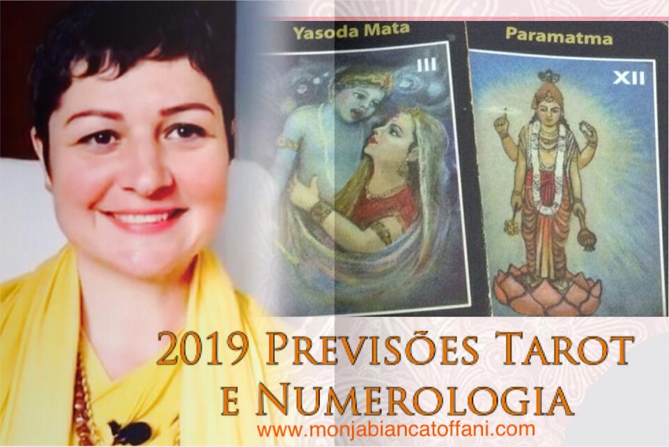 Previsões Tarot e Numerologia 2019 com Monja Bianca